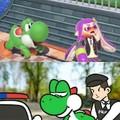 Yoshi, ne fait pas tomber la savonnette en prison