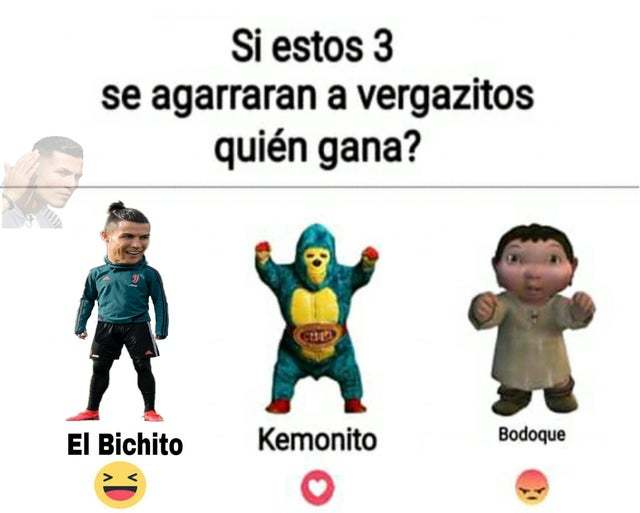 El bichito y kemonito hacen equipo - meme