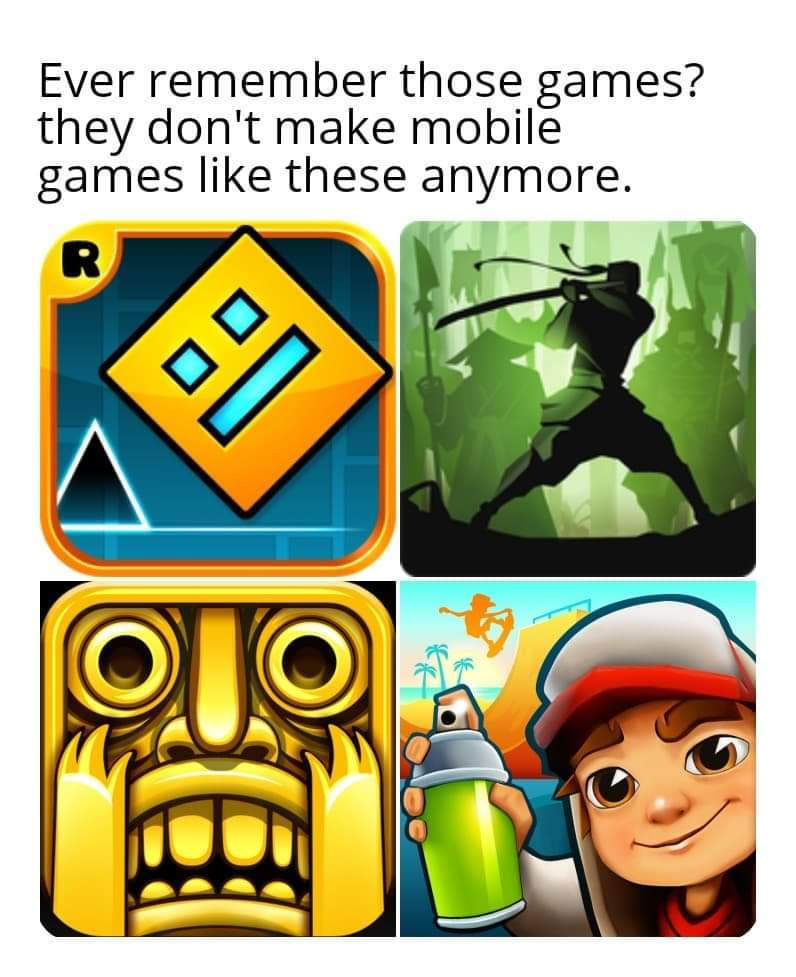 Now, only CoD Mobile, Asphalt 9 and Minecraft are worth my attention - meme