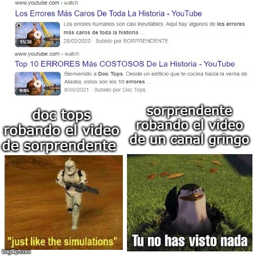 el canal gringo se llama be amazed XD - meme