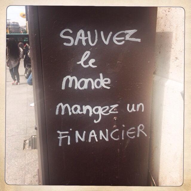 Traduction : Sauvez le monde manger un financier - meme