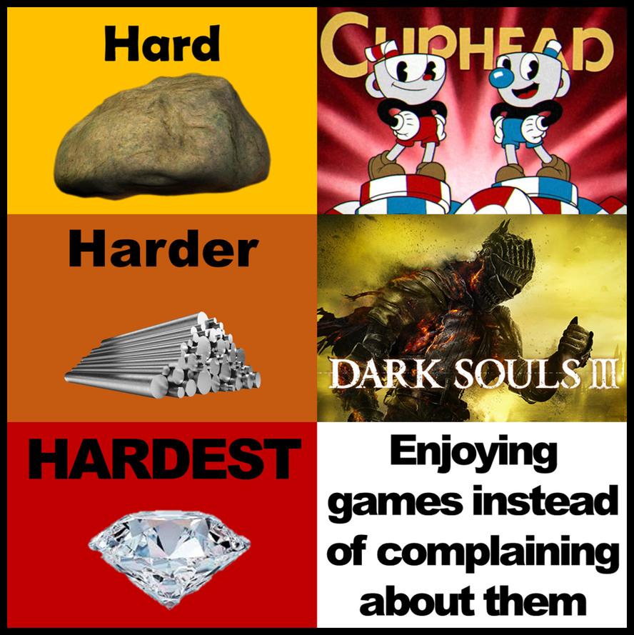 I love the dark souls games - meme