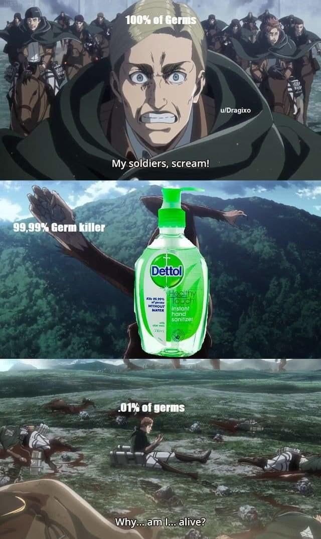 Hand Sanitizers be like - meme