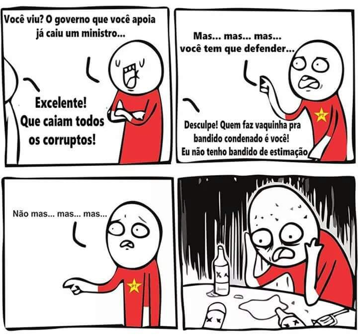 Lixos vermelhos! - meme
