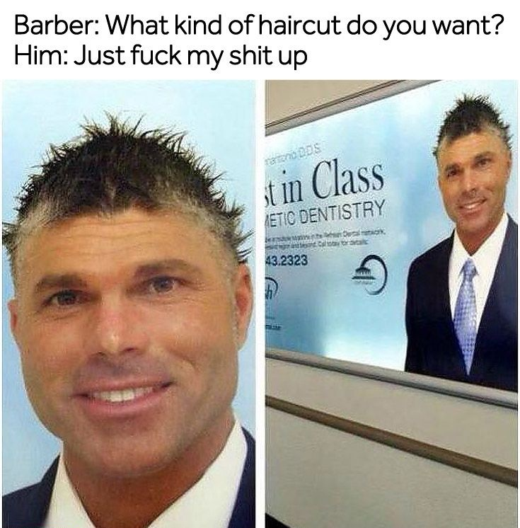 what hairstyle would this be called - meme