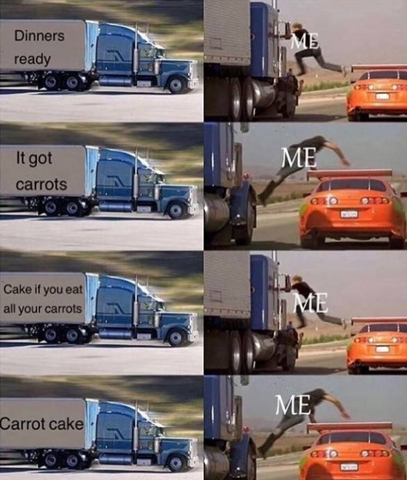 Carrot cake - meme