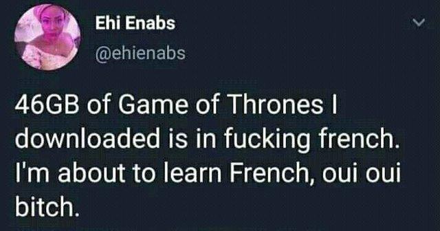 Oui oui bitch - meme