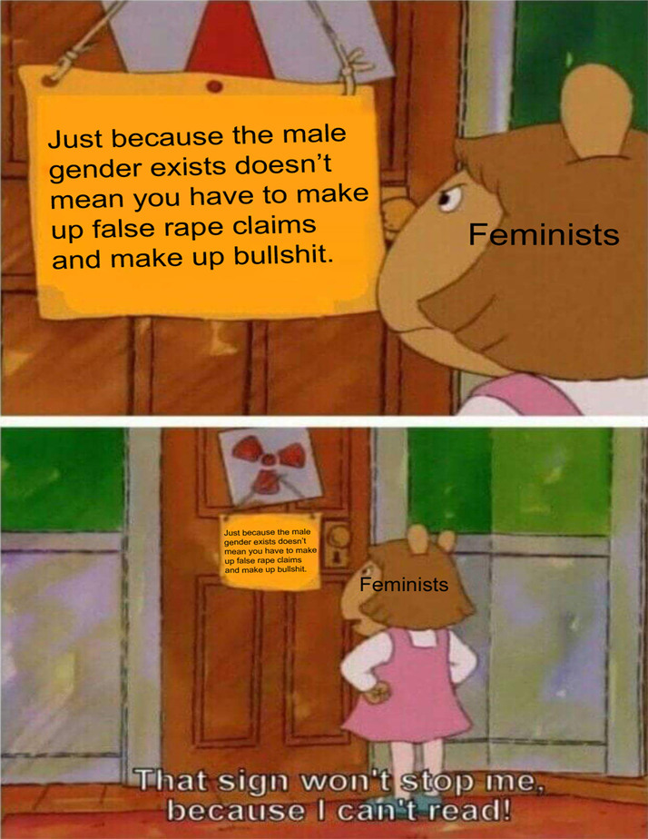 Feminists be like: - meme