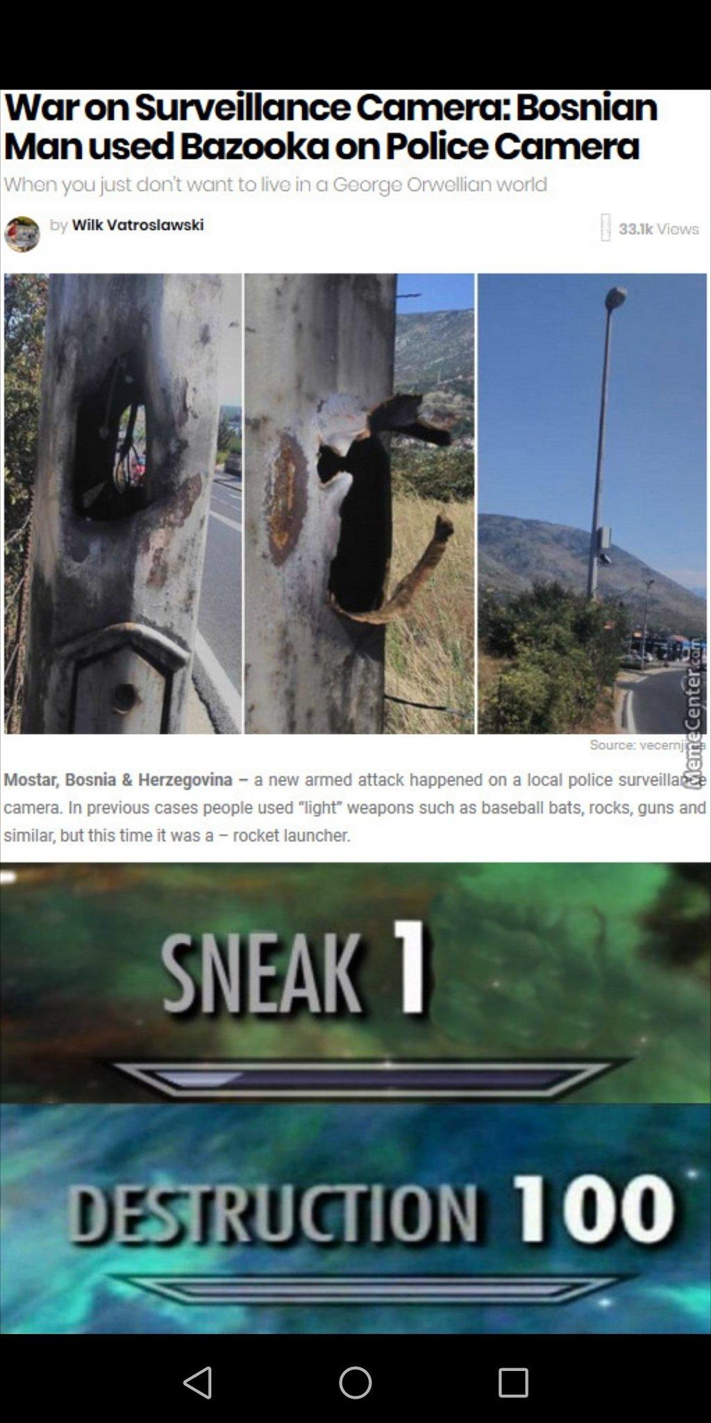 Sneaky Destruction - meme
