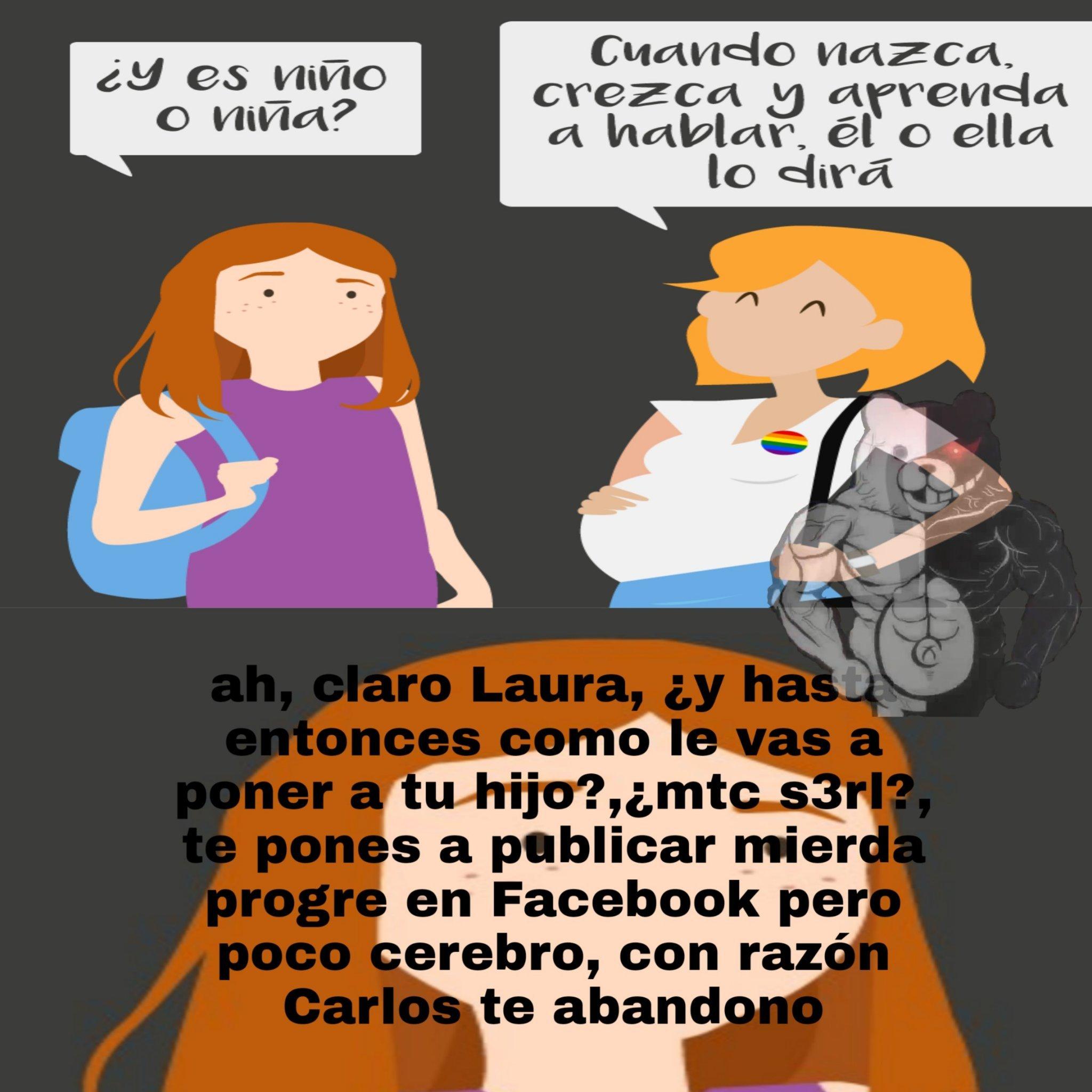 Ademas de feminista, a favor de el lgtb - meme
