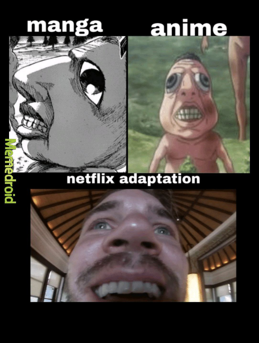 Attack on titans netflix - meme