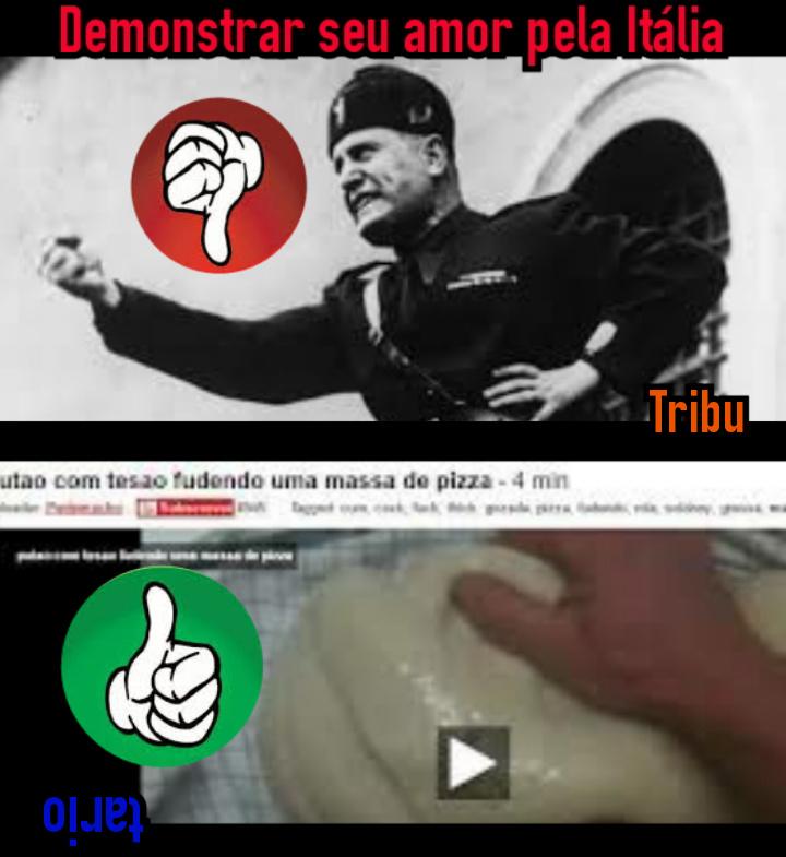 Ultima tirinha sobre Italianos - meme