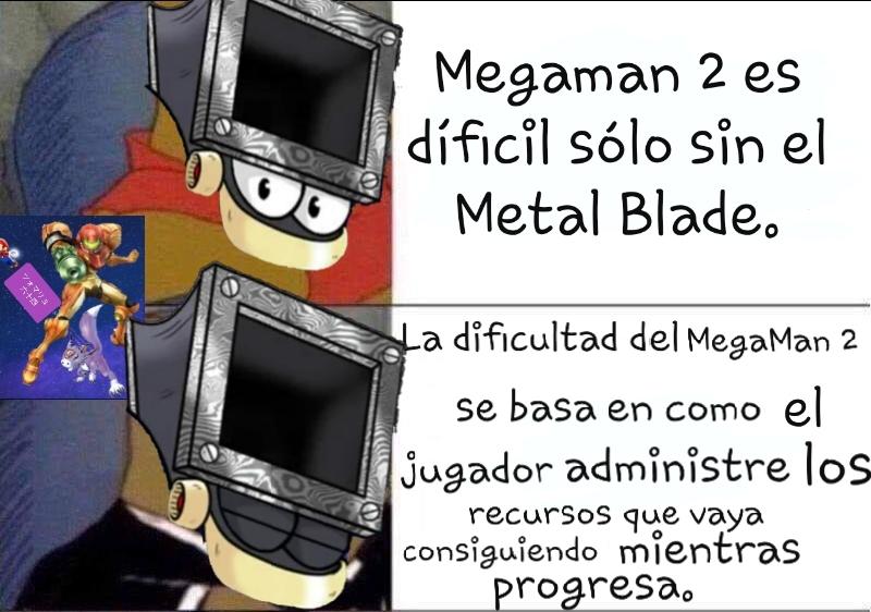 No me acuerdo en que video mencionó la Dificultad de los MegaMan - meme