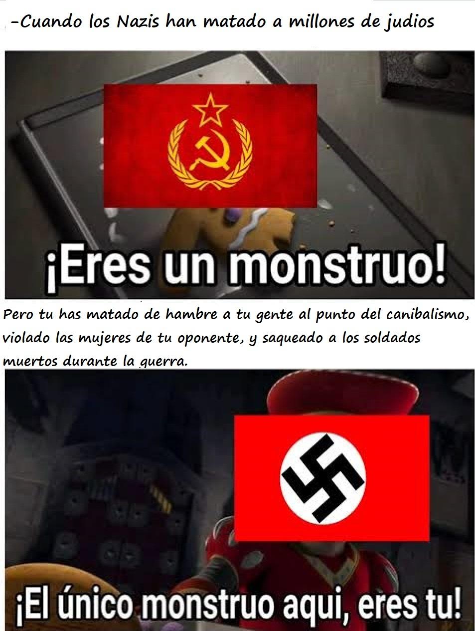 Peores que los nazis - meme