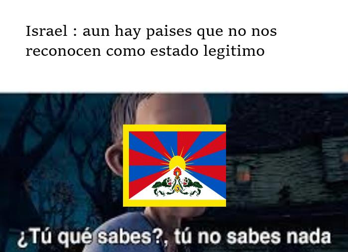 La bandera es de Tibet - meme