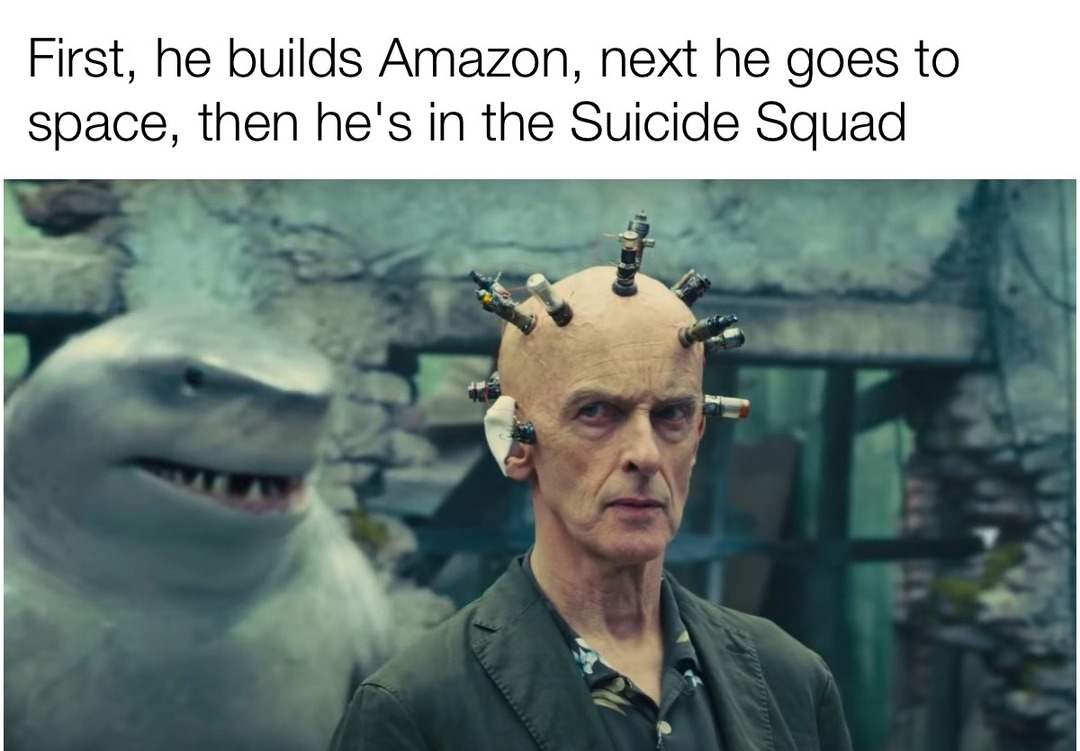 bezos does a suicide - meme