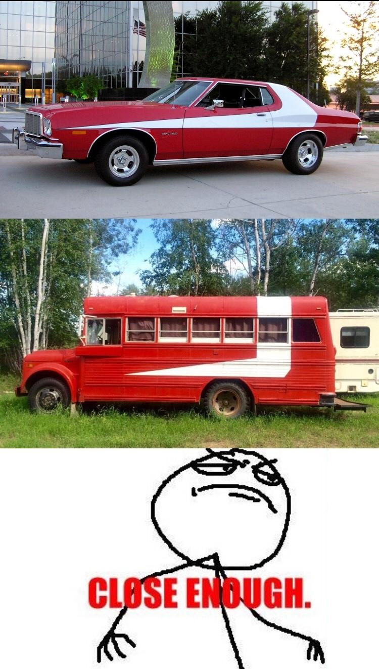 starsky and hutch school bus - meme