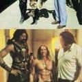 Wilt Chamberlain, Arnold Schwarzenegger and André Roussimoff