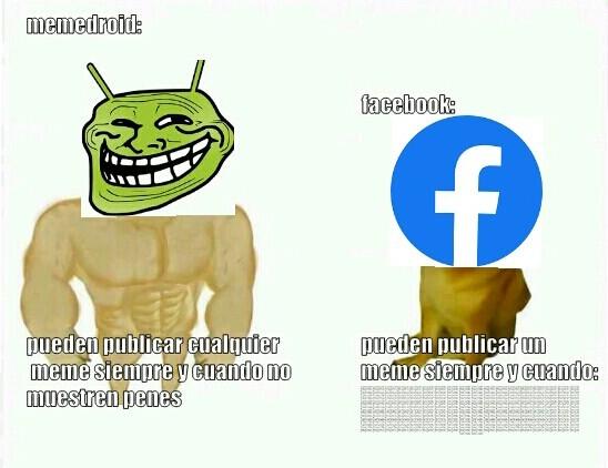 Memedroid vz facebook