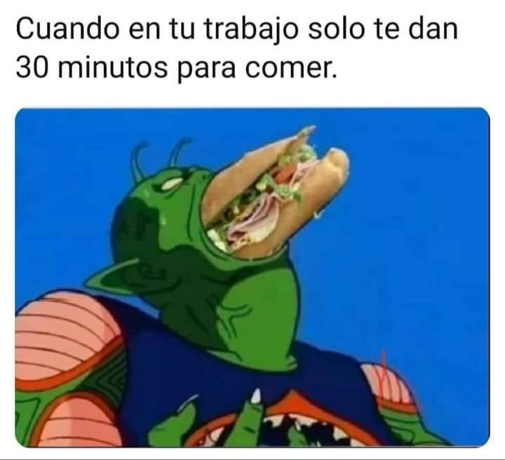 A comer rapido!!! no hay de otra - meme