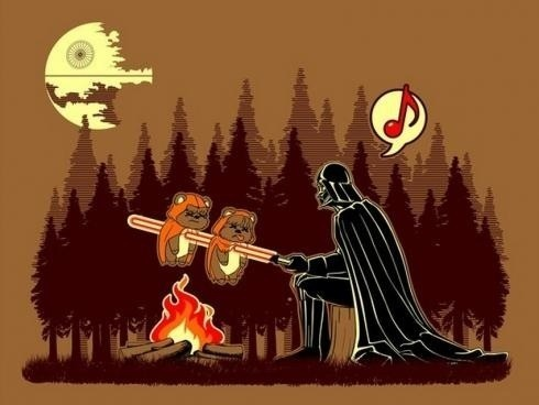 How did Han Solo get to the other side?...  EWOKED - meme