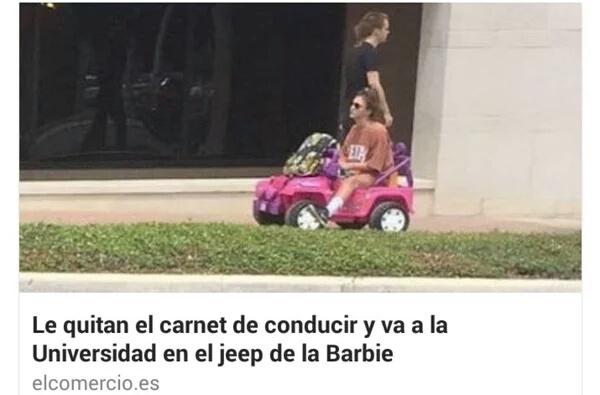 El jeep de la barbi - meme