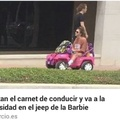 El jeep de la barbi