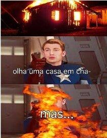 Em chamas!!! - meme
