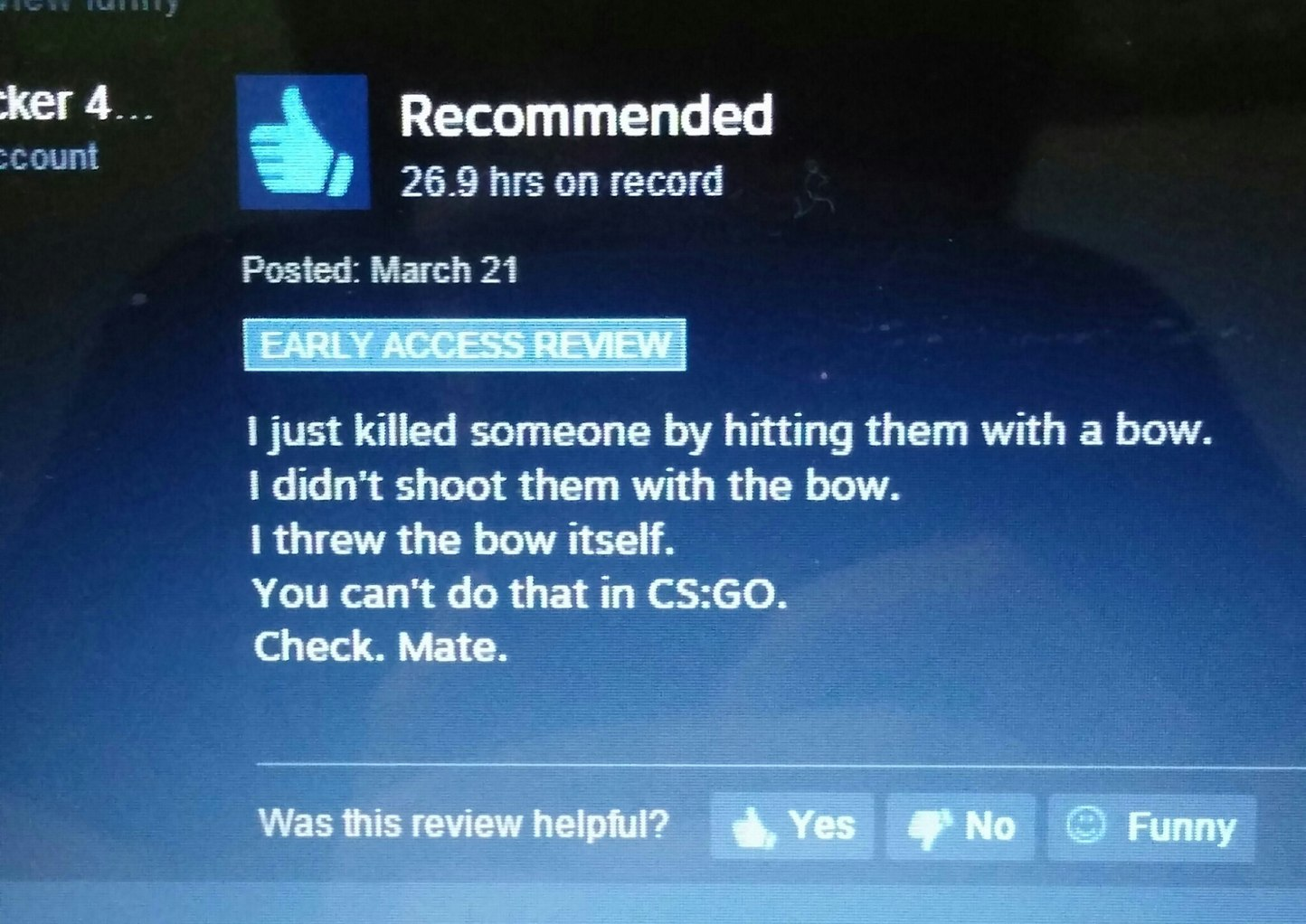 10/10 would kill with bow again ------ Game: The Culling - meme