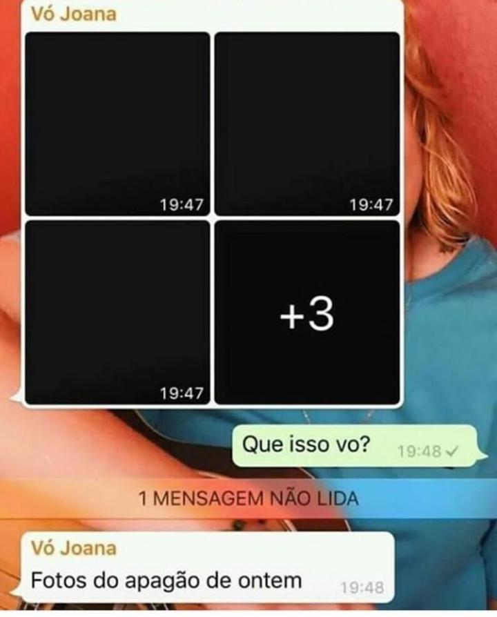 O que vó quer com WhatsApp? Me diz! - meme