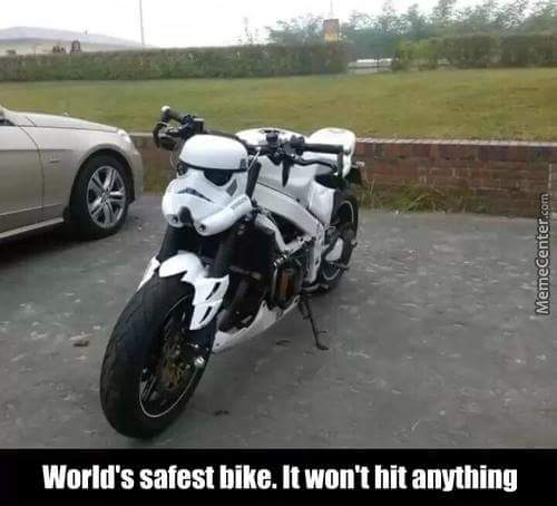 Stormtrooper bike - meme