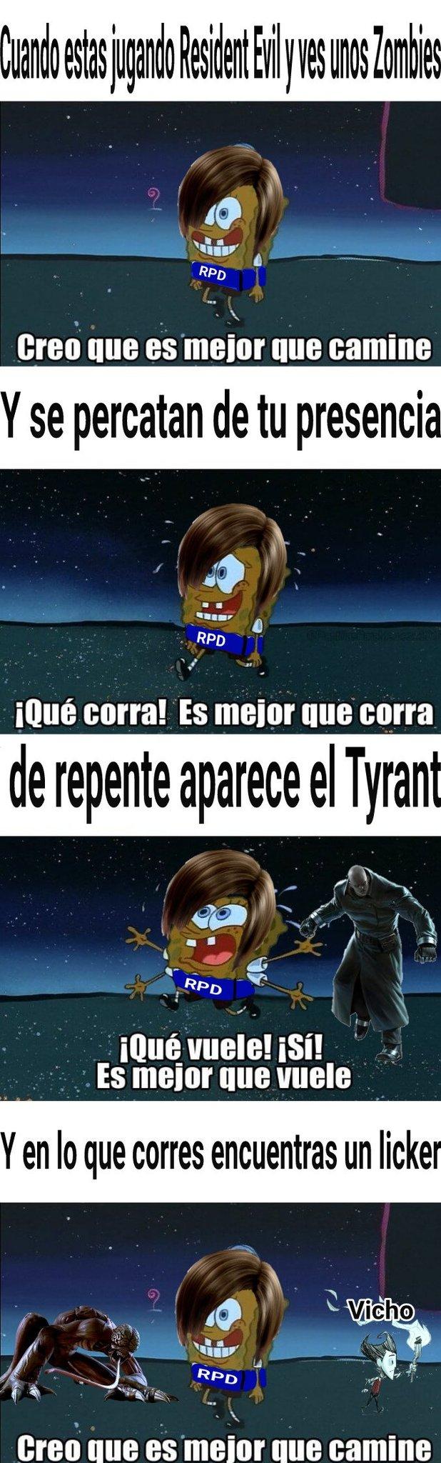 Aguante el Resident Evil - meme