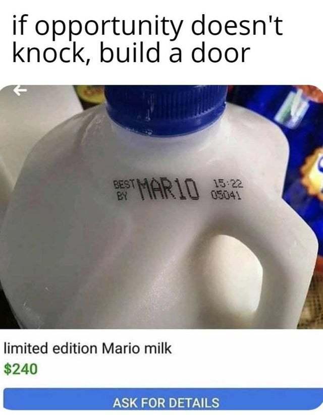 Marios milk 0_0 - meme