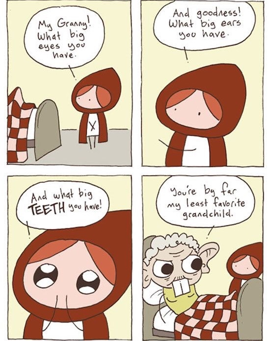 The real story of little red riding hood - meme