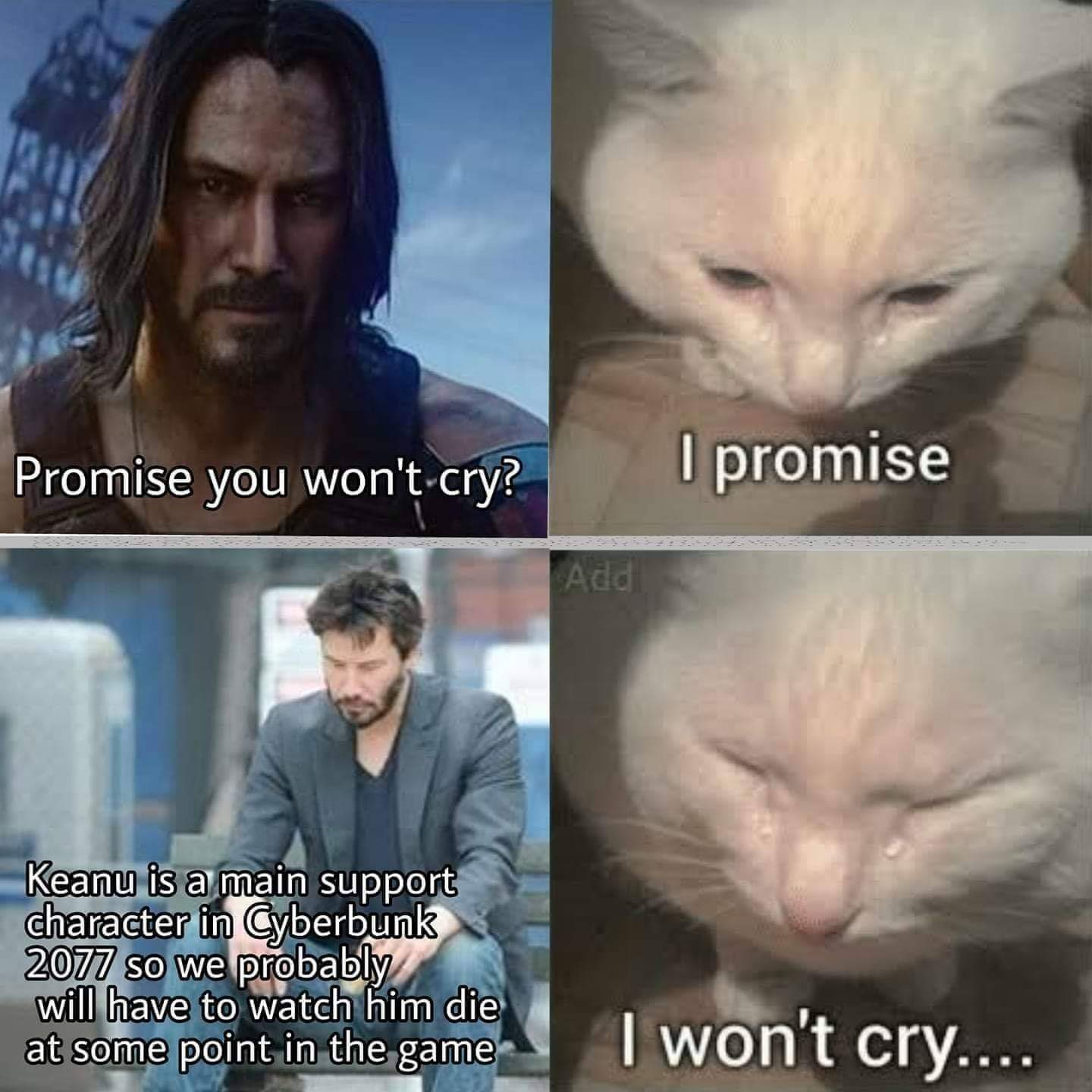 Don't cry - meme