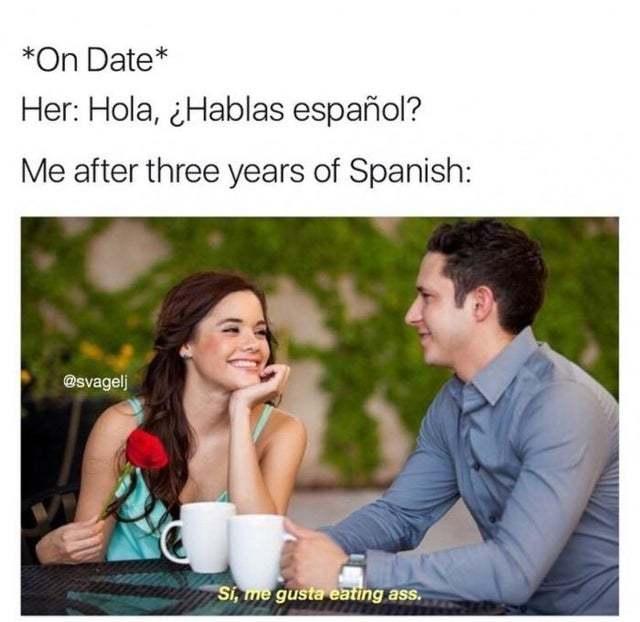 Hola, hablas español? - meme