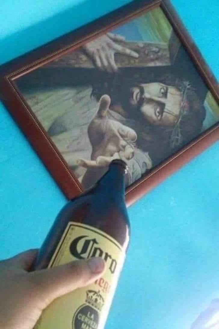 he loves beer - meme