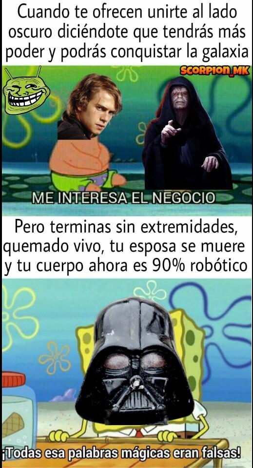 Pobre Anakin :( - meme