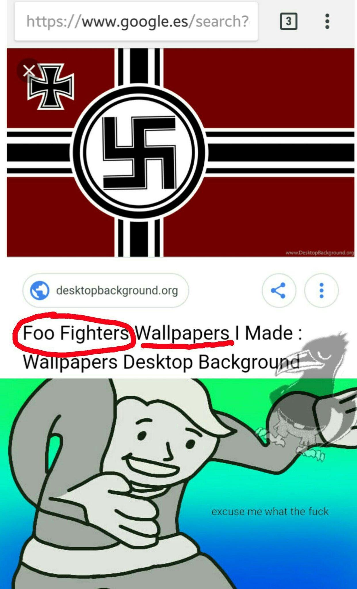 Buscarlo vosotros mismos, no es fake: foo fighters wallpaper - meme