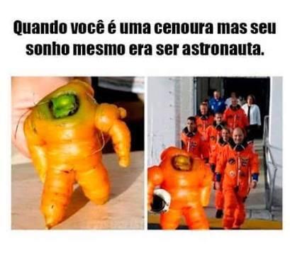 Cenoura neil Armstrong - meme