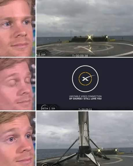 Space X l'atterrissage - meme