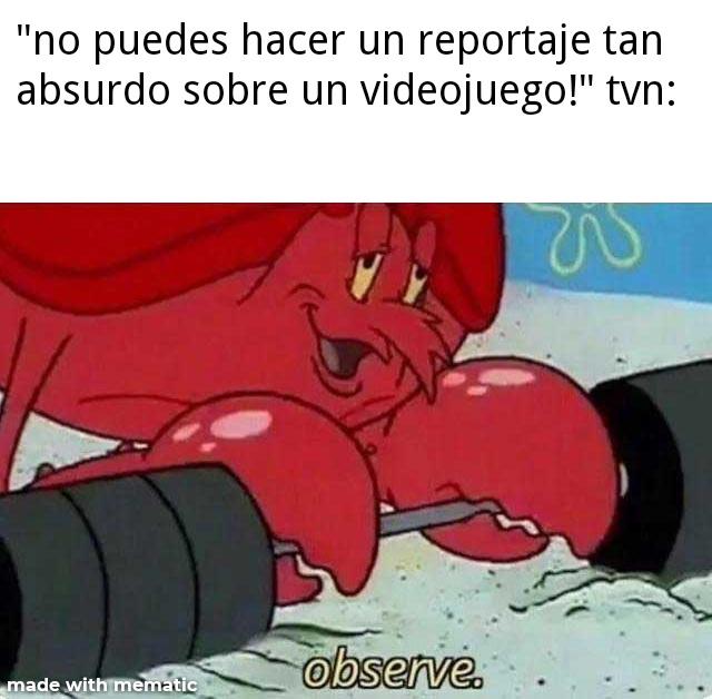 contexto:en 2018 tvn(un noticiero chileno)hizo un reportaje muy malo sobre fnaf - meme