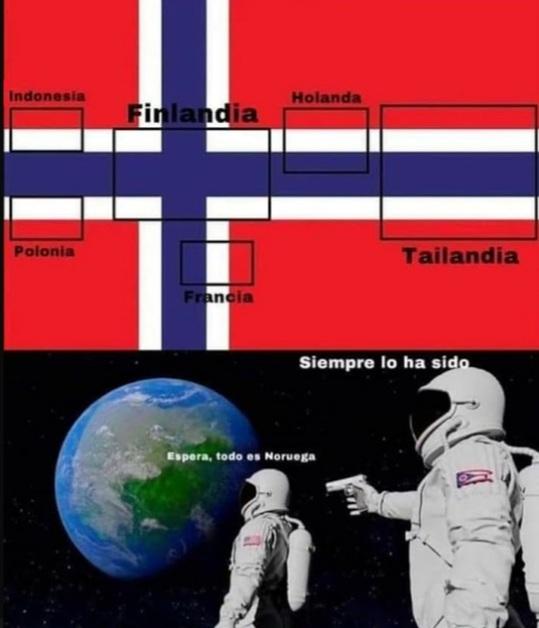 Noruega es el centro del universo - meme