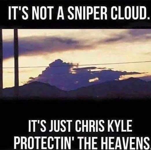 Chris Kyle = le tireur d'élite américain (americain sniper si tu veux) - meme