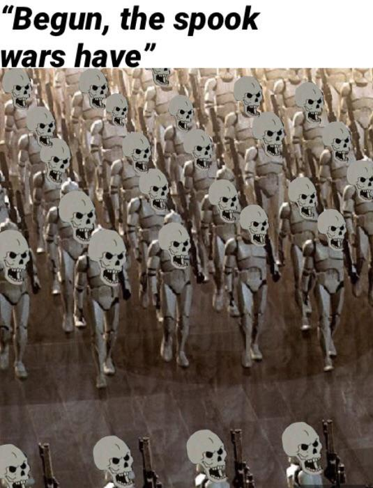 When spooktober arrives so I can finally upload spoopy star wars memes