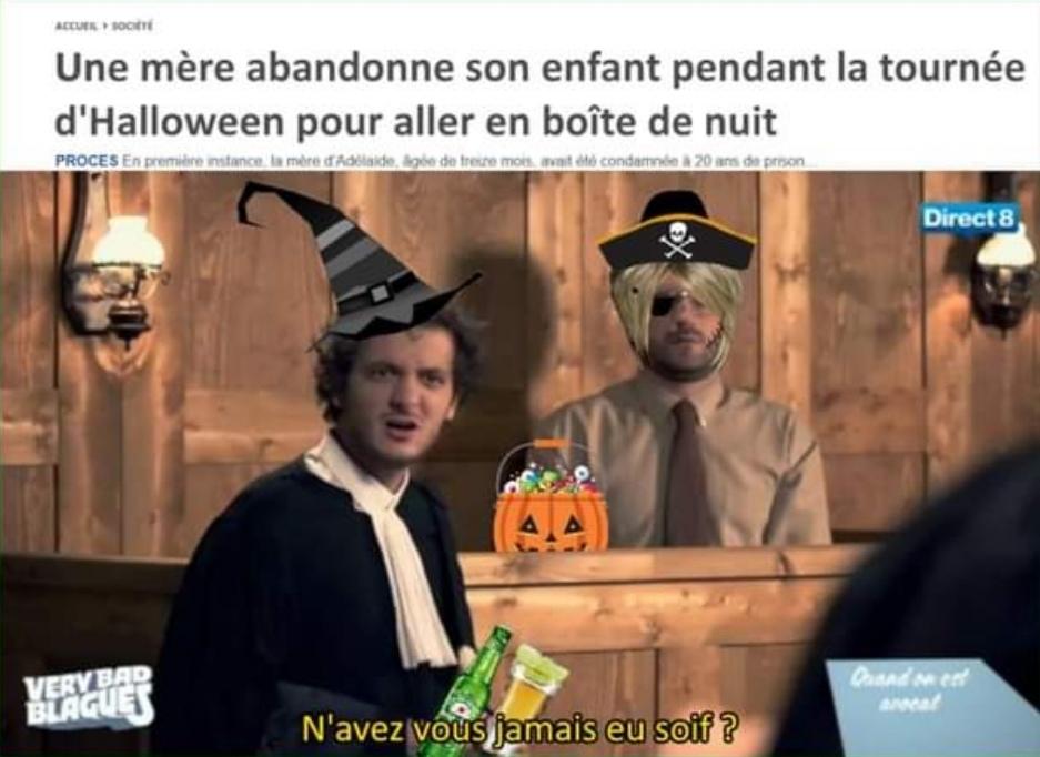 Finale de neurchi de coupe de france des ecoles. Theme : Halloween - meme