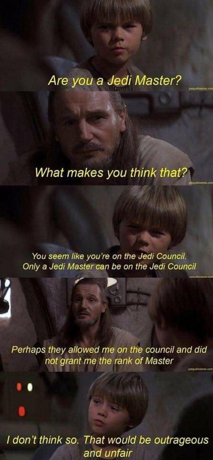 Le Jedi Master - meme