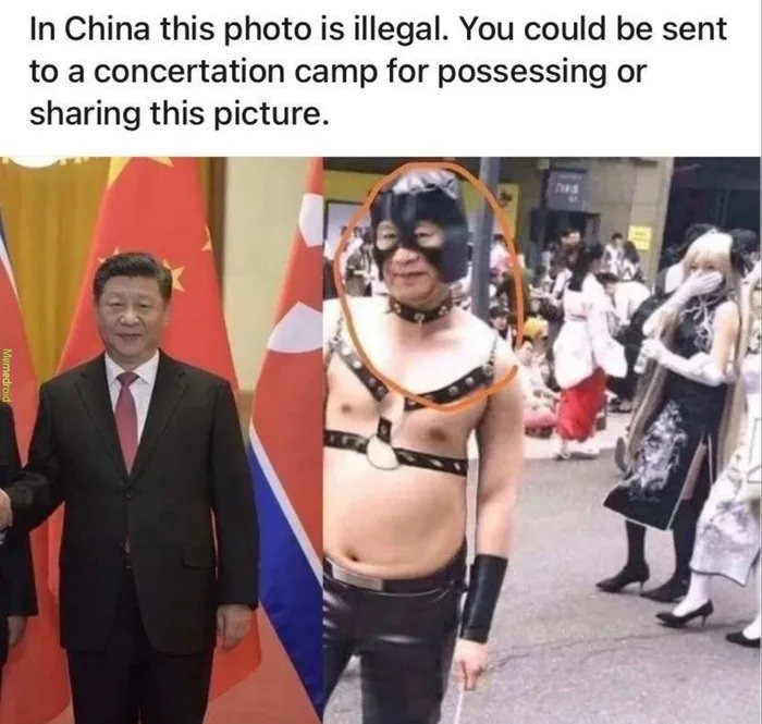 Ainda bem que eu não sou chinês - meme