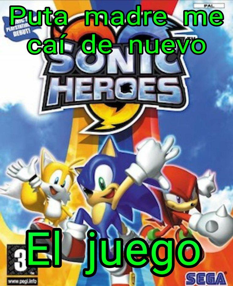 We are sonic heroes! - meme