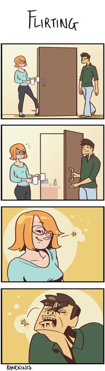 Yo tratando de ser romántico - meme